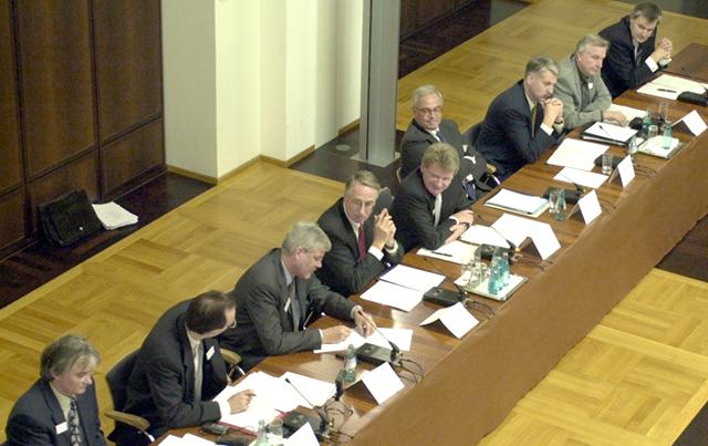 Regionale, FR-Veranstaltung zur Planung der Internationalen Bauausstellung IBA Podiuml. Foto: Rolf Oeser