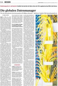 Deutscher Internetknoten DE-CIX und die globalen Datenmanager