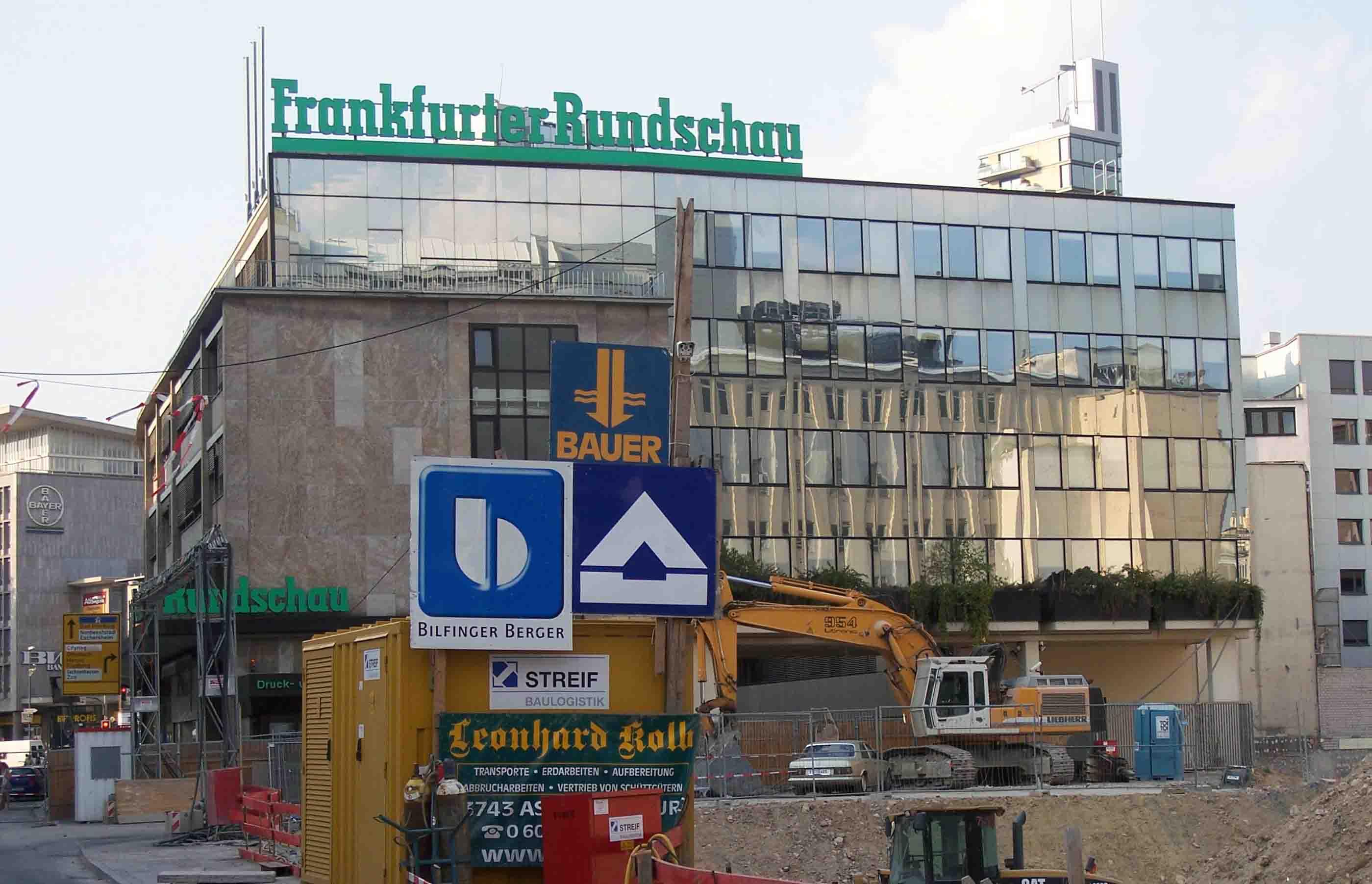 Frankfurter Rundschau, FR, Hof, Große Eschenheimer Straße, Frankfurt,  Jürgen Schultheis