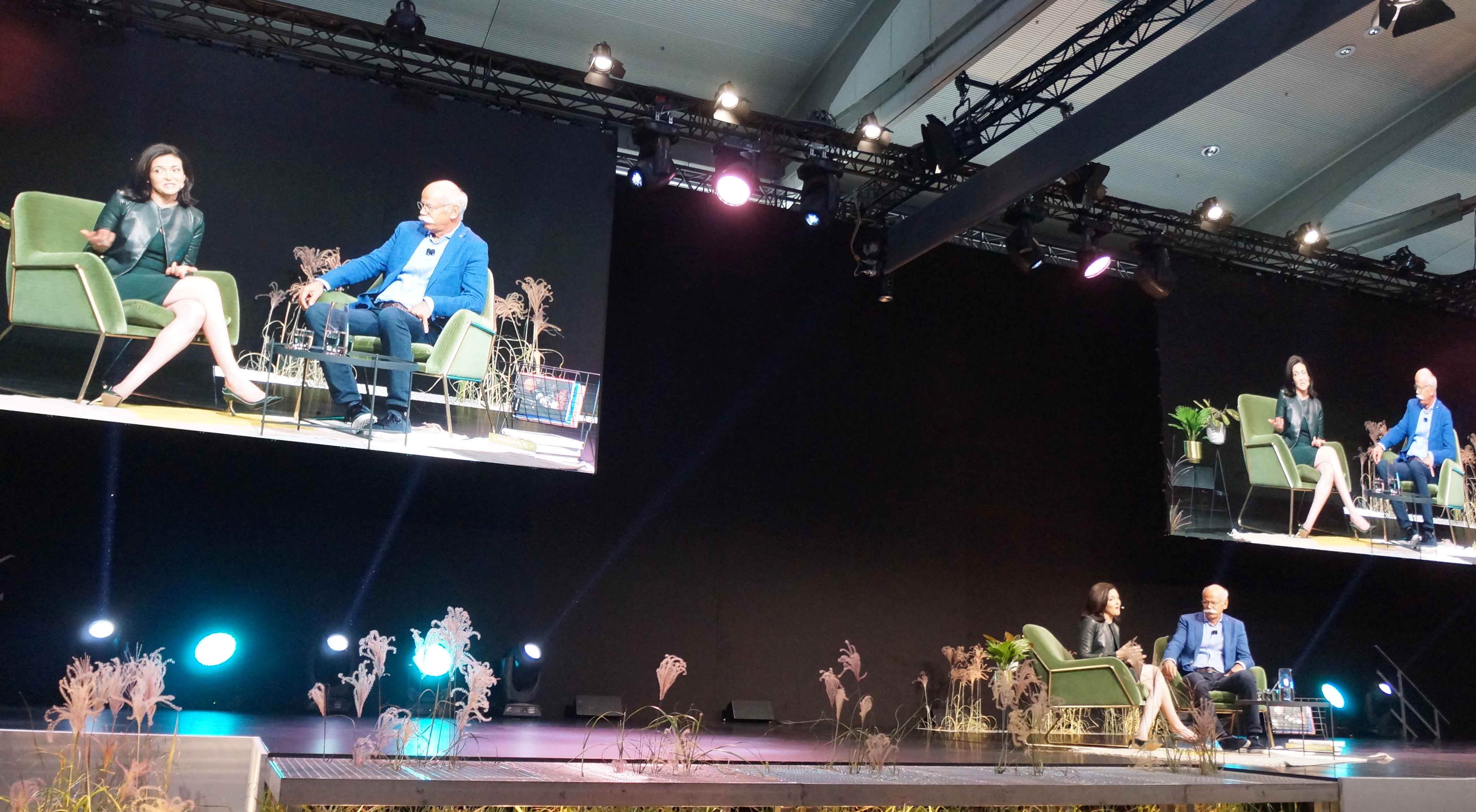 Sheryl Sandberg, Facebook, Dieter Zetsche, Daimler Benz AG, me Convention 2017, IAA, Frankfurt am Main, Bild: Jürgen Schultheis
