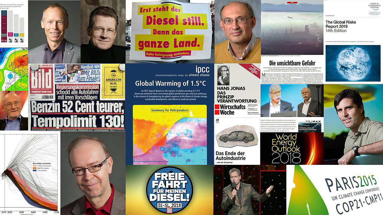 Diesel, Dieselgate, Dieselskandal, Verbrennungsmotor, Internal Combustion Engine, Ottomotor, Weltklimarat, Global Warming Potential, GWP, Klimawirksamkeit, IPCC, EU, Europäische Union, Kohlendioxid, CO2, Stickoxid, NO2, Feinstaub, Klimawandel, Verkehr, Mobilität, Prof. Dr. med. Dieter Köhler, Earth Overshoot Day, Ökosystemleistung, Planetary Boundaries, Earth System Sciences, Erdsystemwissenschaft, Tragfähigkeit, Jürgen Schultheis, Eckhard Helmers, Philipp Blom, Stefan Bratzel, Mark Jacobson, Tami C. Bond, Johan Rockström, PIK, Hans Jonas, Vittorio Hösle, Peter Kasten, Loren Legarda, Fabienne Beez, Hitzewellen, Dürren, World Meteorological Organisation, WMO, CEDIM, Center for Disaster Management and Risk Reduction Technology, WEF, World Economic Forum, World Risks Report, Emissions, Car bans, ICCT, Testzyklus, NEFZ, WLTP, RDE, Ruß, WBGU, 3 D Strategie, Club of Rome, Aurelio Peccei