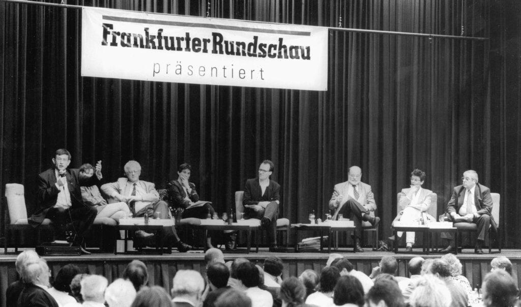 Heinz Riesenhuber, Karsten Voigt, Ulrike Riedel, CDU, Grüne, SPD, Jürgen Schultheis, Bundestagswahl 1994