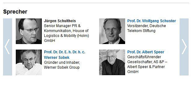 Jürgen Schultheis, ZEIT-Konferenz, Sobeck, Schuster, Albert Speer